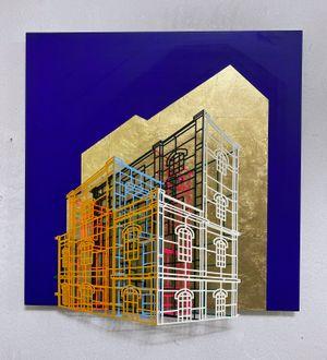 Ambiguous wall- Golden cage 02 by Byung Joo Kim contemporary artwork