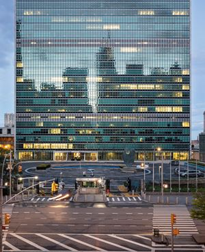 United Nations, NYC, 11 May 2020 by Sean Hemmerle contemporary artwork