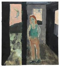 Dawn Interior by Tom Anholt contemporary artwork painting, works on paper