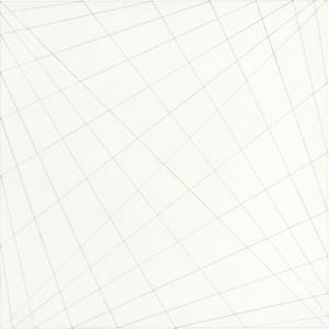 Die Verbindung der Seitenpunkte mittels der Diagonalen by Karl-Heinz Adler contemporary artwork