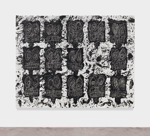 Untitled Anxious Audience by Rashid Johnson contemporary artwork