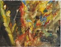 A night in the forest by Chafa Ghaddar contemporary artwork painting