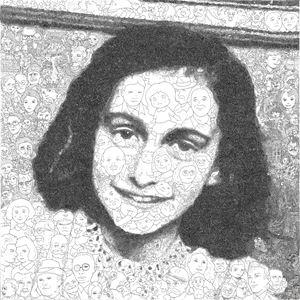 Hystorical Portraits – vol. 10 Anne Frank by Keita Sagaki contemporary artwork