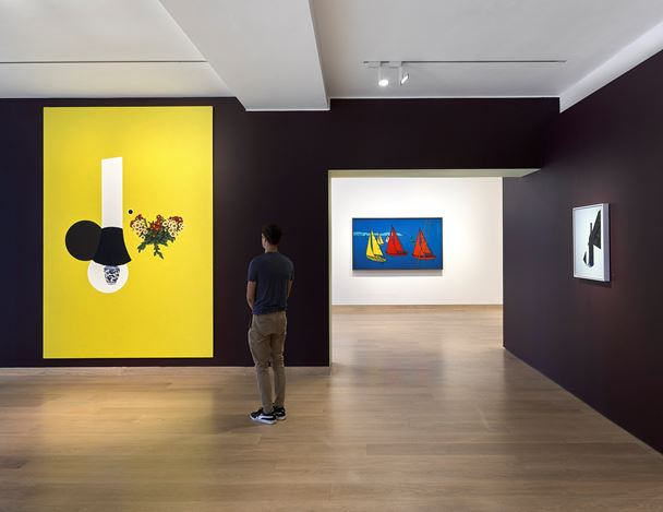 Exhibition view: Patrick Caulfield, Morning, Noon and Night, Waddington Custot, London (11 September–15 November 2019). Courtesy Waddington Custot.