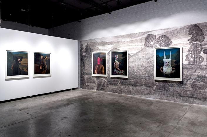 Exhibition view: Jacqui Stockdale, Ghost Hoovanah, THIS IS NO FANTASY dianne tanzer + nicola stein, Melbourne (30 June–21 July 2018). Courtesy THIS IS NO FANTASY dianne tanzer + nicola stein.