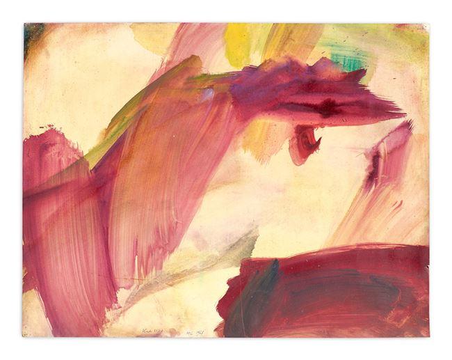 Tachistisches Selbstportrait (Tachist Self-Portrait) by Maria Lassnig contemporary artwork