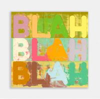 Blah Blah Blah by Mel Bochner contemporary artwork painting, works on paper