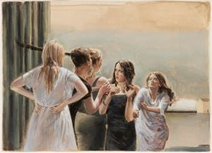 The birthmark scenes by Jan De Maesschalck contemporary artwork