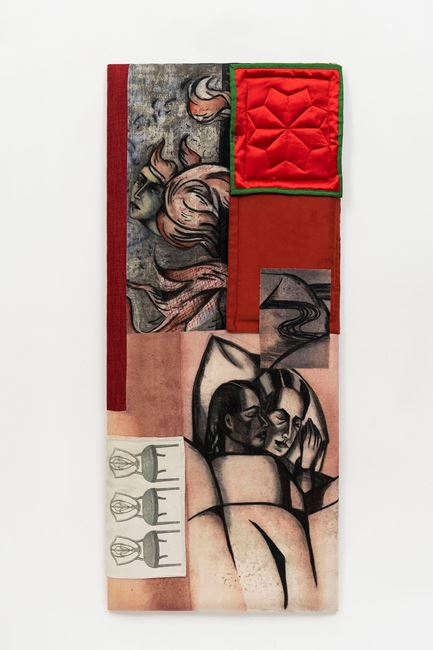 Red Wind by Anju Dodiya contemporary artwork