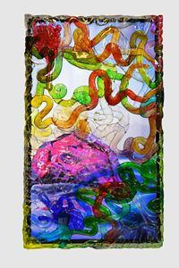 Wasserschatz (Schwarzlicht)  by Pipilotti Rist contemporary artwork mixed media