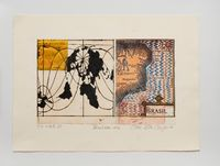 Local da ação 1500 - 1996 by Anna Bella Geiger contemporary artwork works on paper, print, drawing