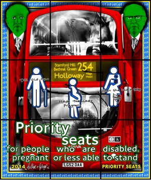 Priority Seats by Gilbert & George contemporary artwork