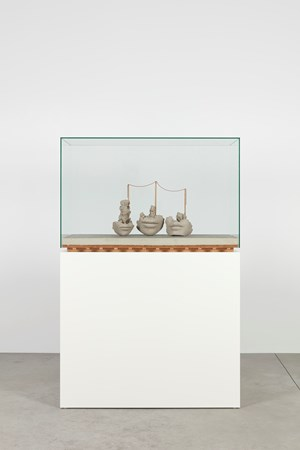 Still Life on Concrete Floor by Mark Manders contemporary artwork