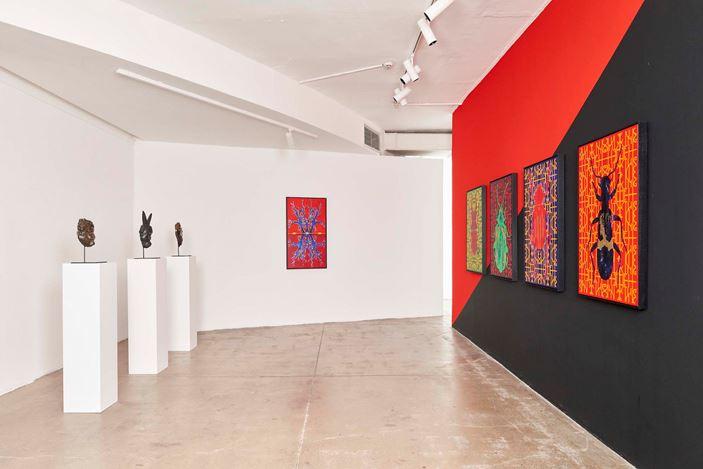 Exhibition view: Kendell Geers,In Gozi We Trust, Goodman Gallery, Johannesburg (23 November 2019–25 January 2020). Courtesy Goodman Gallery.