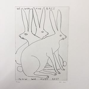 We Won the Race by David Shrigley contemporary artwork