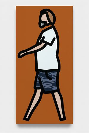 Striped shorts by Julian Opie contemporary artwork