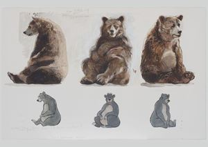 The pure Necessity (unemployed bear) by David Claerbout contemporary artwork