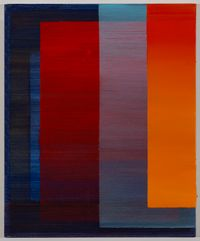 Intersection (red, blue, orange) I by Tanya Goel contemporary artwork painting
