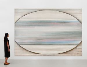 Silver stripes by Ed Clark contemporary artwork