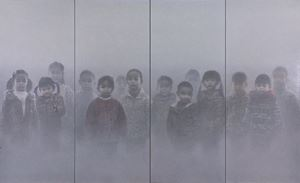 The Realm of the Heart No. 45  (Polyptych) by Zhu Yiyong contemporary artwork
