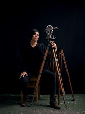 Portrait of Woman with Theodolite II by Heba Y. Amin contemporary artwork