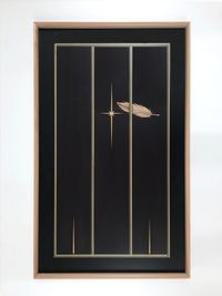 One Feather One Star by Camille Blatrix contemporary artwork mixed media