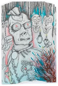 Whitby Goth Festival by Hardeep Pandhal contemporary artwork painting, works on paper, drawing