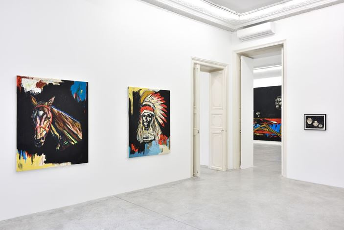 Exhibition view: Wes Lang, Almine Rech, Paris (17 October–14 November 2020). © Wes Lang. Courtesy the Artist and Almine Rech.Photo: Rebecca Fanuele.