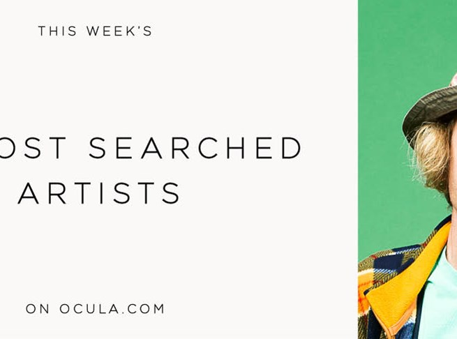 The most searched artists on Ocula now