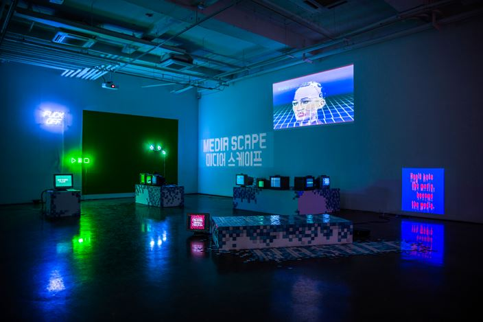 Installation view of I have no idea, because I have no idea._Joy of Painting at ARARIO GALLERY I Seoul, 2020