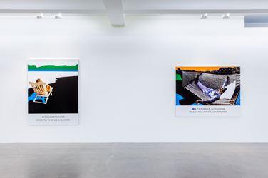 Exhibition view, John Baldessari, 2016, Sprüth Magers, Los Angeles. Exhibition courtesy Marian Goodman Gallery.