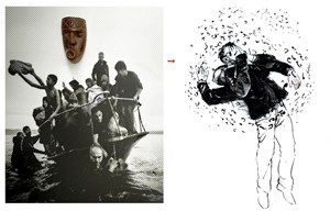 Passeport by Mohamed LekLeti contemporary artwork