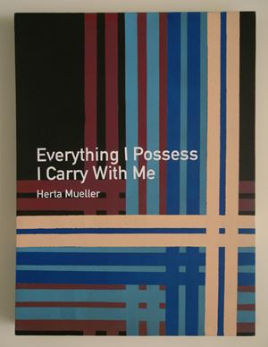 Everything I Possess I Carry With Me / Herta Mueller by Heman Chong contemporary artwork