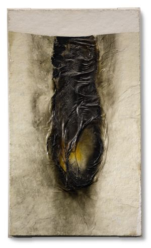 Combustion by Alberto Burri contemporary artwork