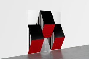 Prismes et miroirs : Haut-relief - DBPF-15, travail situé by Daniel Buren contemporary artwork