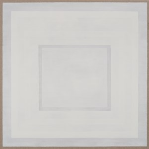 White Rectangle Within White Rectangle on White by Danica Firulovic contemporary artwork