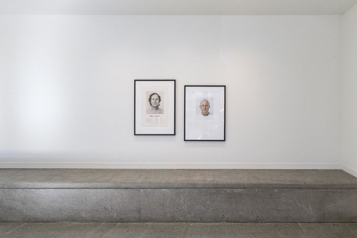 Exhibition view: Billy Apple, Head Height and other self-portraits, Hamish McKay, Wellington (29 May–12 June 2021). Courtesy Hamish McKay, Wellington.