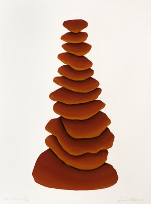 Iron Column by David Nash contemporary artwork