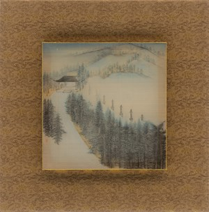 Eight Scenic Views of Yongfu Monastery: Blessed by Propitious Rain by Luo Ying contemporary artwork