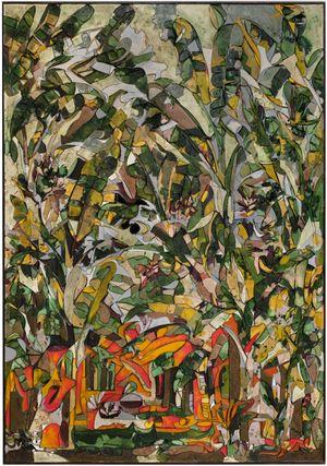 Banana Trees on Fire by Ugo Schildge contemporary artwork