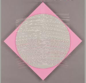 Rombo rosa y blanco by Jesús Rafael Soto contemporary artwork