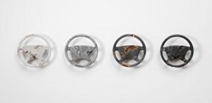 Eroded Mercedes Benz Steering Wheels by Daniel Arsham contemporary artwork