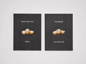 THIS MEANS YOU ARE LATE by Laure Prouvost contemporary artwork