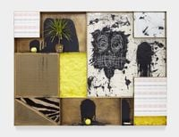 Untitled Microphone Sculpture by Rashid Johnson contemporary artwork mixed media