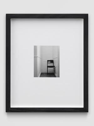 Chair (Noir) by Martin Boyce contemporary artwork