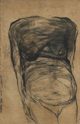 Jogen Chowdhury, Torso-II (Woman) (1966). Pastel on craft paper. 98 x 65 cm / 38.5 x 25.5 in. CourtesyGalerie Mirchandani + Steinruecke.