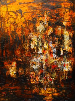 Alas Kobong/The Forest Is Burning by Gatot Pujiarto contemporary artwork