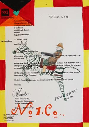 Buckaroo Zebra by Carla Busuttil contemporary artwork