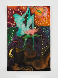 Afternoon with La Soufrière (prelude 2) by Chris Ofili contemporary artwork painting, works on paper, drawing