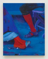 Courting in Red by Joshua Petker contemporary artwork painting